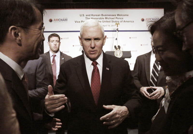 Pence takes message of US resolve against North Korea to Japan