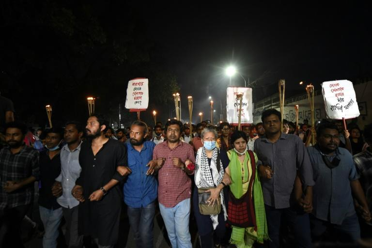 Activists and students on Friday protested in Bangladesh's capital after a prominent writer and government critic died in jail
