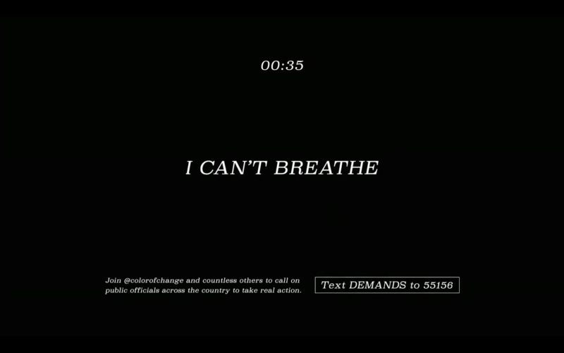 Nickelodeon airs 'I Can't Breathe' PSA in solidarity with George Floyd and the Black Lives Matter movement. (Photo: Twitter)