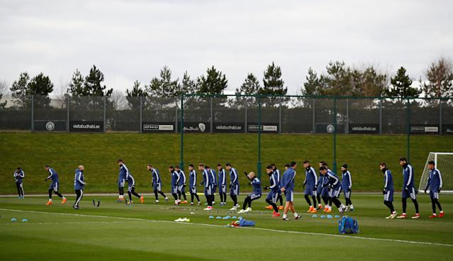 Soccer Football - Argentina Training - City Football Academy, Manchester, Britain - March 20, 2018 General view during training Action Images via Reuters/Jason Cairnduff