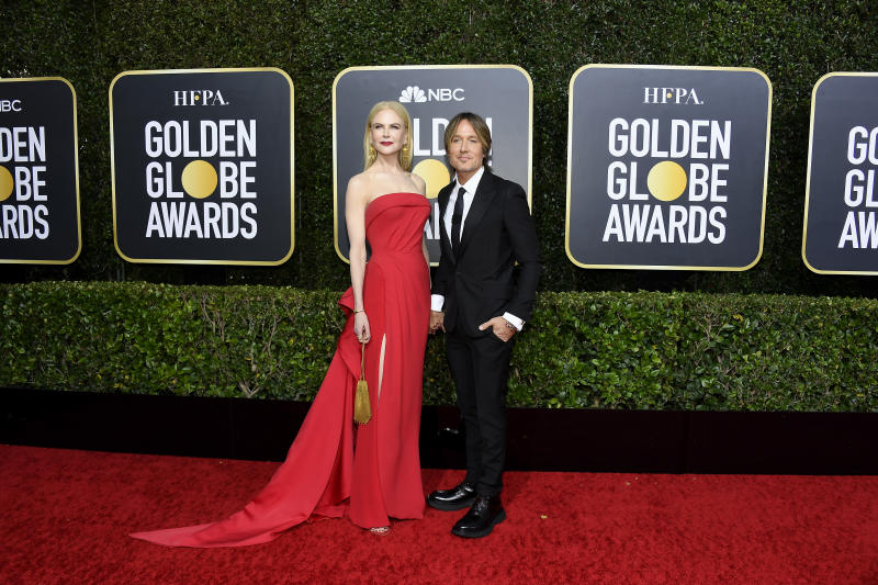 Nicole Kidman and Keith Urban arrive to the 77th Annual Golden Globe Awards held at the Beverly Hilton Hotel on January 5, 2020.