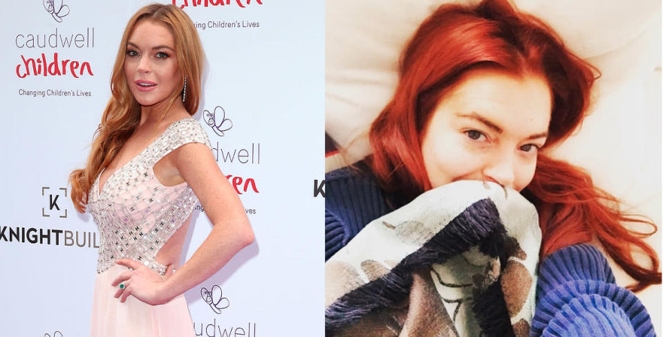 <p>Our fav redhead has been enjoying strawberry-blonde tresses for the past few years , but took to Instagram to showcase her fiery new red tresses. <i> (Photos: Danny Martindale/WireImage/ Instagram/November 2016) </i> </p>
