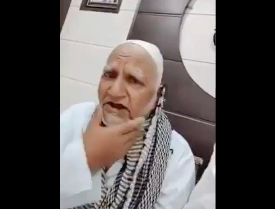 Screengrab from a video in which Abdul Samad describes what happened to him (Screengrab/Twitter)