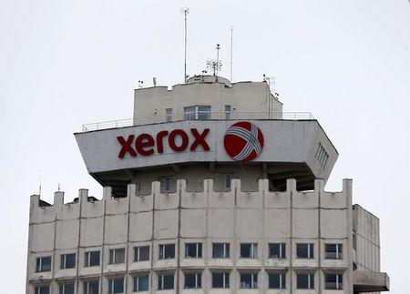 FILE PHOTO: The logo of Xerox company is seen on a building in Minsk, Belarus, March 21, 2016.  REUTERS/Vasily Fedosenko/File Photo
