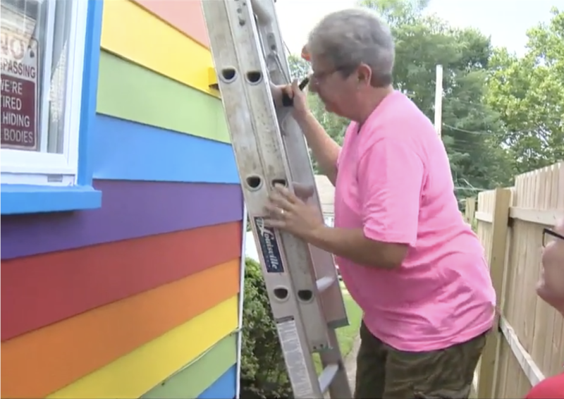 The couple plan to extend the paint job to the entire home.  (WTAE)