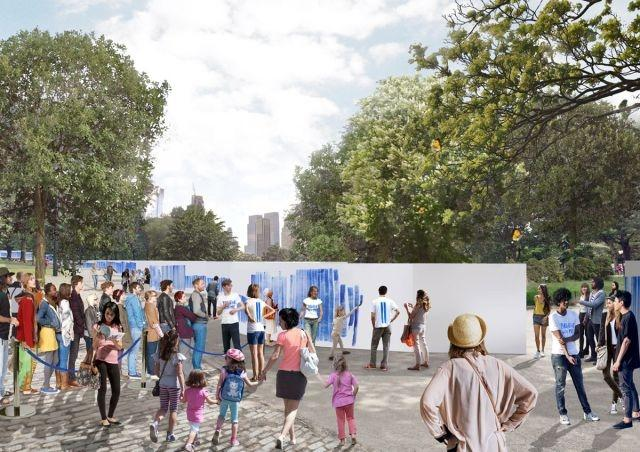 The 'Breathe With Me' project will be on view in Central Park from September 25 to 27