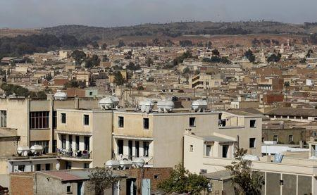A general view shows a section of the skyline in Eritrea's capital Asmara, February 20, 2016. Picture taken February 20, 2016. REUTERS/Thomas Mukoya