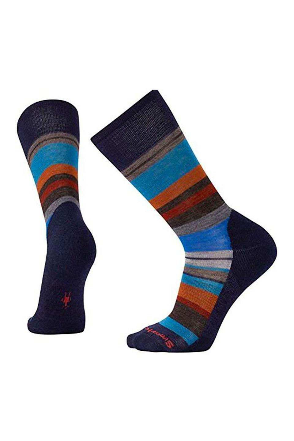 "<p><strong>Smartwool</strong></p><p>amazon.com</p><p><a href=""http://www.amazon.com/dp/B01N0KZM74/?tag=syn-yahoo-20&ascsubtag=%5Bartid%7C10070.g.964%5Bsrc%7Cyahoo-us"" rel=""nofollow noopener"" target=""_blank"" data-ylk=""slk:SHOP NOW"" class=""link rapid-noclick-resp"">SHOP NOW</a></p><p>Not only are these socks insanely soft and warm, but they also have a supportive arch brace that provides all-day comfort.</p>"