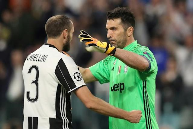 Juventus stalwarts Buffon and Chiellini have been teammates for club and country for much of their careers (AFP Photo/Valery HACHE)
