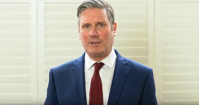 Sir Keir Starmer delivering his acceptance speech after winning the Labour leadership contest