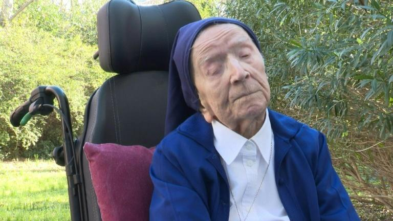 French nun Sister Andre has seen two world wars, nineteen presidents and most recently the coronavirus pandemic -- even catching and surviving Covid-19 herself