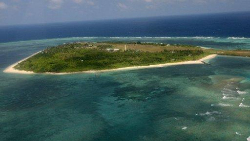 Thitu Island, part of the disputed Spratly group of islands, in the South China Sea