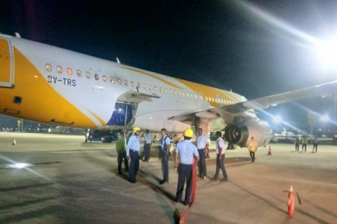 Flight SCO 567 carrying 170 passengers had its scheduled departure from Trichy Airport in Tamil Nadu at 1.30 am on Monday, and was on its way to Singapore.