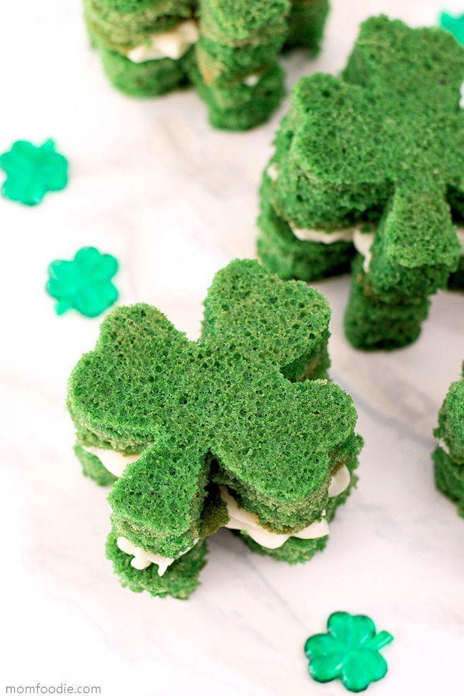 """<p>Elevate a simple vanilla cake mix by turning it into these fun whoopie pies. A dollop of homemade buttercream is sandwiched in the middle.</p><p><strong>Get the recipe at <a href=""""https://momfoodie.com/st-patricks-day-shamrock-whoopie-pies/"""" rel=""""nofollow noopener"""" target=""""_blank"""" data-ylk=""""slk:Mom Foodie"""" class=""""link rapid-noclick-resp"""">Mom Foodie</a>.</strong></p><p><strong><a class=""""link rapid-noclick-resp"""" href=""""https://go.redirectingat.com?id=74968X1596630&url=https%3A%2F%2Fwww.walmart.com%2Fsearch%2F%3Fquery%3Dshamrock%2Bcookie%2Bcutter&sref=https%3A%2F%2Fwww.thepioneerwoman.com%2Ffood-cooking%2Fmeals-menus%2Fg35269814%2Fst-patricks-day-desserts%2F"""" rel=""""nofollow noopener"""" target=""""_blank"""" data-ylk=""""slk:SHOP SHAMROCK COOKIE CUTTERS"""">SHOP SHAMROCK COOKIE CUTTERS</a><br></strong></p>"""