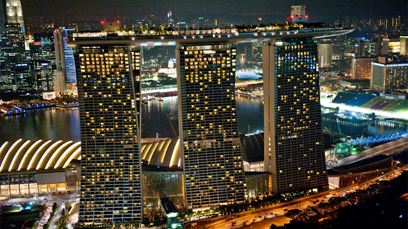 For one of the best views of Singapore, head to the top 57th floor of Marina Bay Sands. Source: Singapore Tourism Board, The ultimate Crazy Rich Asians guide to Singapore
