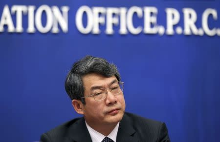 Liu Tienan, then head of the National Energy Administration and deputy chairman of China's National Development and Reform Commission (NDRC), attends a news conference about Spring Festival transport in Beijing in this January 8, 2012 file photo.    REUTERS/Stringer/Files