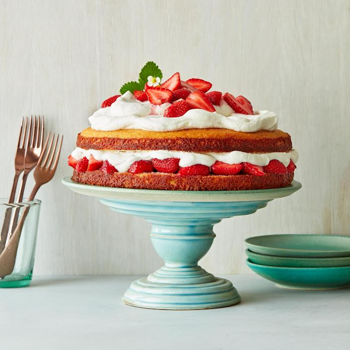 <p>We love everything about this gorgeous dessert—from the orange-scented cornmeal cake to the tangy whipped cream and loads of summer berries. But the best part? It truly gets better with time, as the strawberry juices soak ever more deeply into the cake.</p>