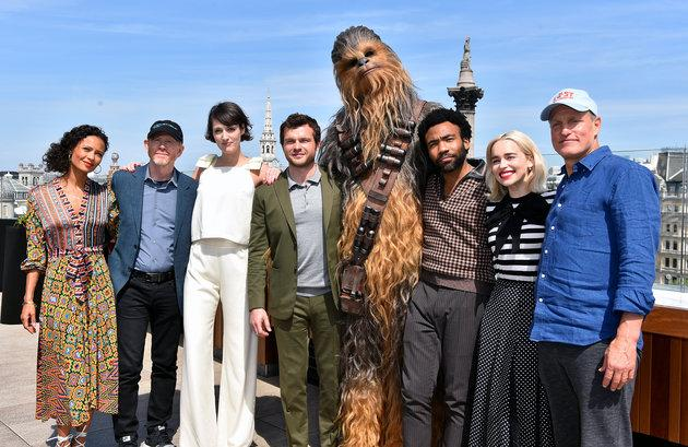 Thandie with the cast of 'Solo'
