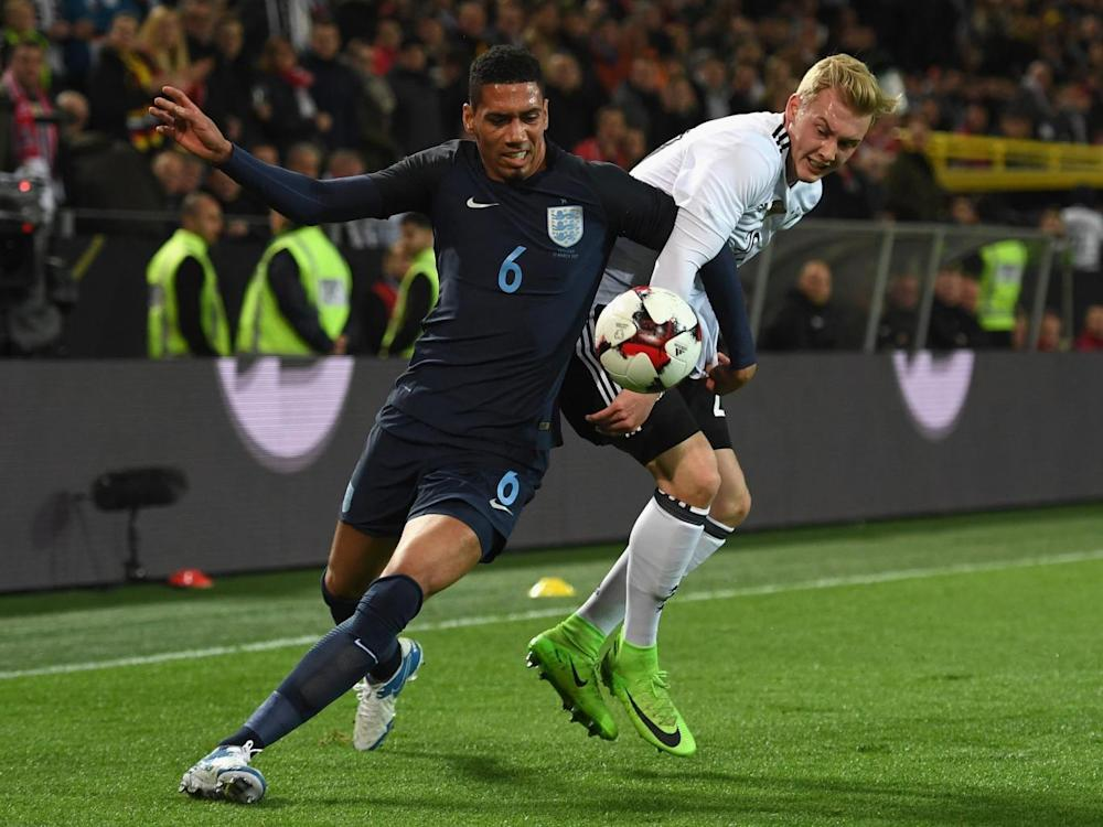 London-born Chris Smalling could captain the side on Sunday (Getty)