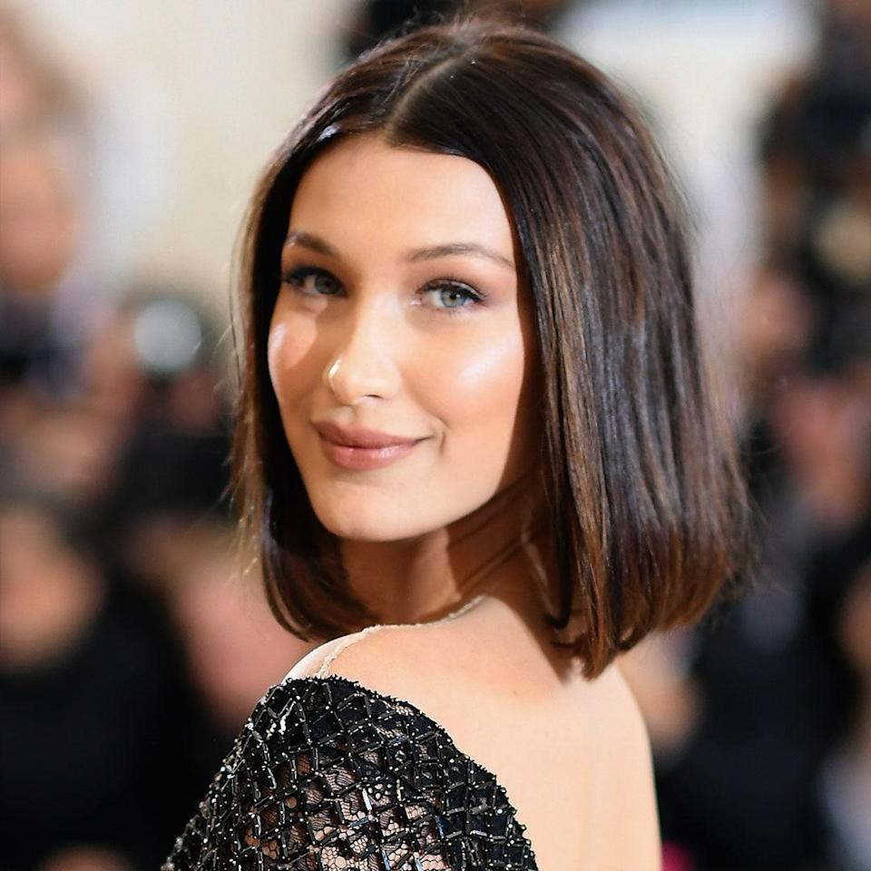 Bella Hadid has made the lob her go-to cut over the years, but this polished, almost retro take on it is one of our favorites.
