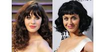 <p>While Zooey Deschanel and Katy Perry have widely different talents, the two stars both have a retro look, thanks to their fair skin and large bright eyes. </p>