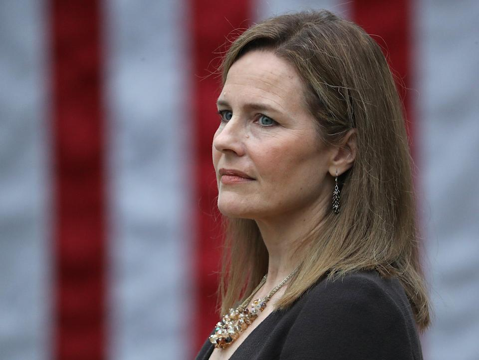 Supreme Court nominee Amy Coney Barrett could rule over cases that determine women's reproductive rights for decades (Getty Images)
