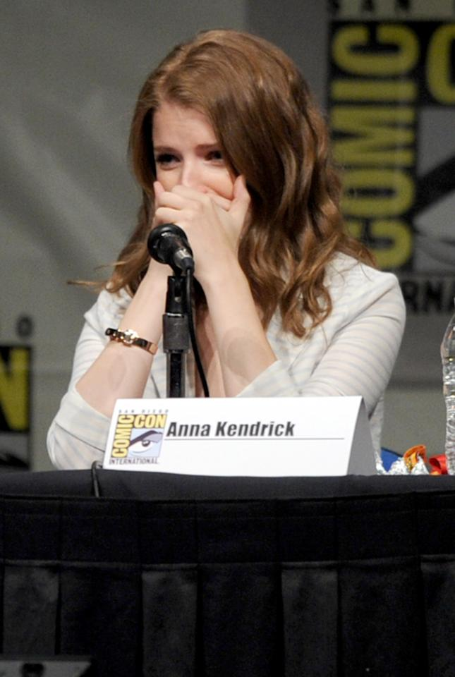 "SAN DIEGO, CA - JULY 13:  Actress Anna Kendrick speaks at the ""Paranorman: Behind The Scenes"" panel during Comic-Con International 2012 at San Diego Convention Center on July 13, 2012 in San Diego, California.  (Photo by Kevin Winter/Getty Images)"