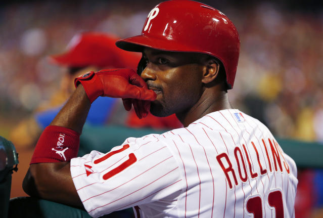 Jimmy Rollins is the Phillies' all-time hits leader. (Photo by Rich Schultz/Getty Images)
