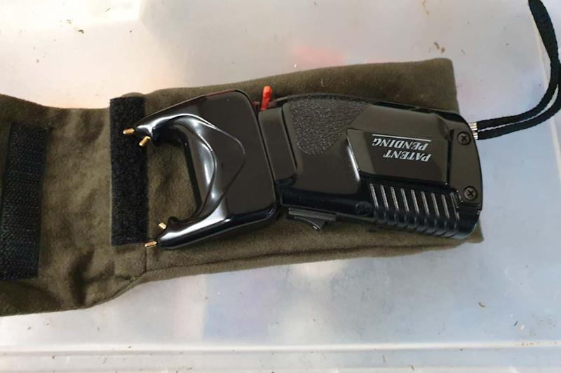A taser was recovered from a property in south London (Met Police)