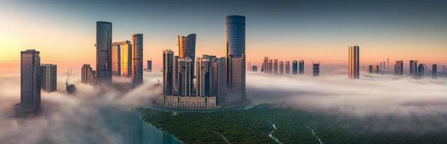 <p>Abu Dhabi skyline. (Photograph by Khalid Alhammadi/Caters News) </p>