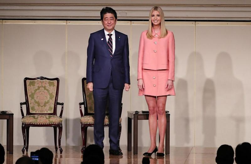 She met with Prime Minister Shinzō Abe in Japan. Photo: Getty Images