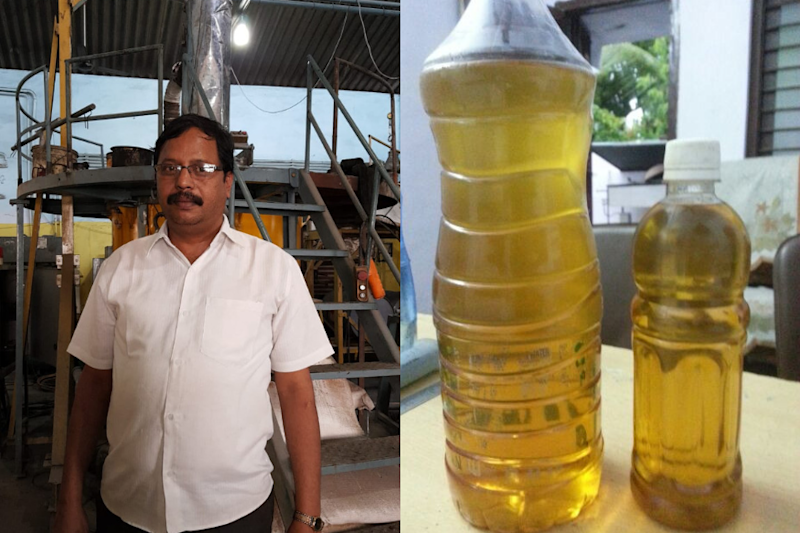 This Man in Hyderabad is Making Fuel out of Plastic and Selling it for Rs 40 a Litre