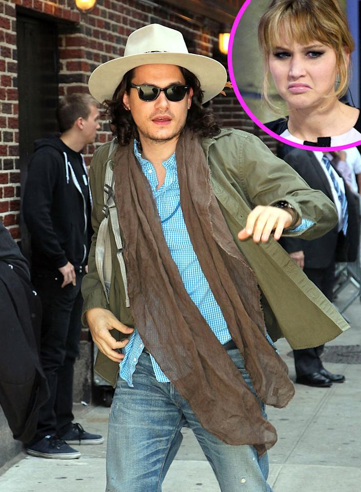 "John Mayer was ""flirting up a storm"" with Jennifer Lawrence during a recent night out in L.A., reports <i>RadarOnline.</i> The site says Mayer ""only had eyes"" for Lawrence, who was ""loving the attention"" because she also has a ""crush"" on him. For the inside scoop on how their romance is progressing, see what a Lawrence pal dishes to <a target=""_blank"" href=""http://www.gossipcop.com/jennifer-lawrence-john-mayer-flirting-date-crush/"">Gossip Cop</a>."