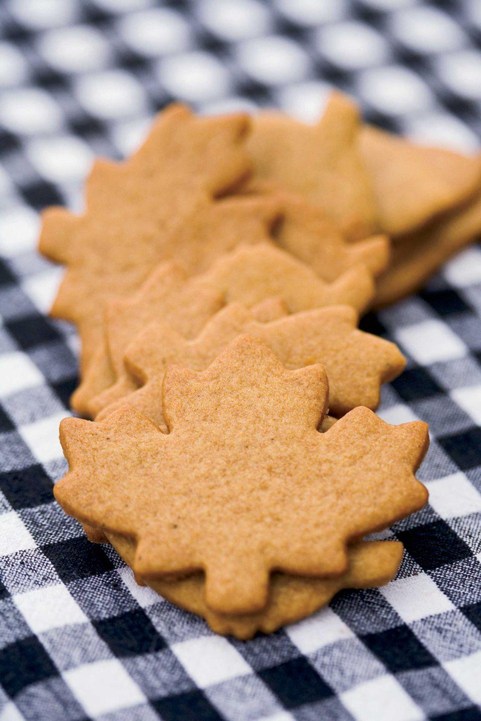 """<p>This recipe will yield plenty of cookies, which is perfect for baking big batches for trick-or-treaters or a Halloween party. Store the extra dough in the freezer and make smaller batches whenever the mood strikes! </p><p><strong><a href=""""https://www.countryliving.com/food-drinks/recipes/a1934/cookie-cutter-ginger-crisps-clv1007/"""" rel=""""nofollow noopener"""" target=""""_blank"""" data-ylk=""""slk:Get the recipe"""" class=""""link rapid-noclick-resp"""">Get the recipe</a>.</strong></p>"""