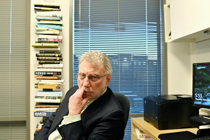 WASHINGTON, DC- FEBRUARY: 25 Executive Editor Marty Baron retires from The Washington Post via Getty Images. He is photographed downtown in Washington, DC on February 25, 2021.  (Photo by Marvin Joseph/The Washington Post via Getty Images)
