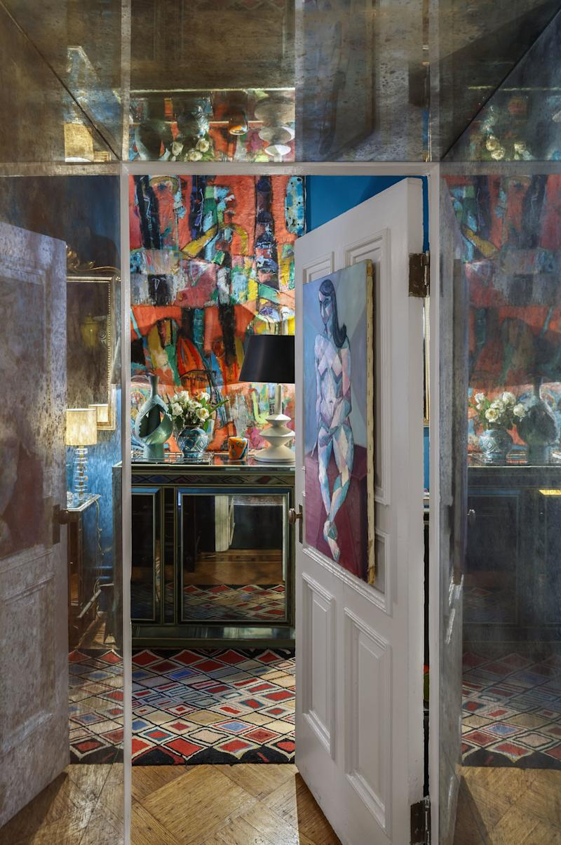 Colleen Weinstein and her late husband, Arthur, an artist and club owner, raised their daughter Dahlia in the Chelsea. Artworks fill the home.