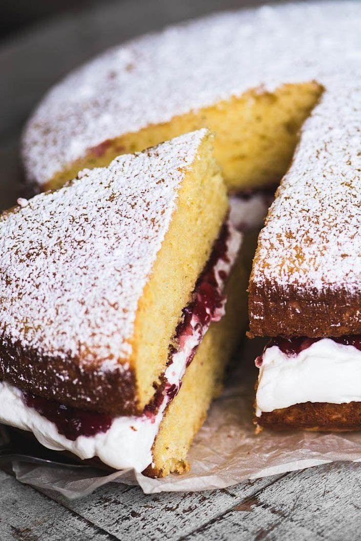 "<p>Having a Mother's Day tea party? This teatime classic is a must-have as part of your afternoon meal.</p><p><strong>Get the recipe at <a href=""https://theviewfromgreatisland.com/classic-victoria-sponge-cake-recipe/"" rel=""nofollow noopener"" target=""_blank"" data-ylk=""slk:The View from Great Island"" class=""link rapid-noclick-resp"">The View from Great Island</a>.</strong></p><p><a class=""link rapid-noclick-resp"" href=""https://go.redirectingat.com?id=74968X1596630&url=https%3A%2F%2Fwww.walmart.com%2Fsearch%2F%3Fquery%3Dcake%2Bpans&sref=https%3A%2F%2Fwww.thepioneerwoman.com%2Ffood-cooking%2Fmeals-menus%2Fg36066375%2Fmothers-day-cakes%2F"" rel=""nofollow noopener"" target=""_blank"" data-ylk=""slk:SHOP CAKE PANS"">SHOP CAKE PANS</a></p>"