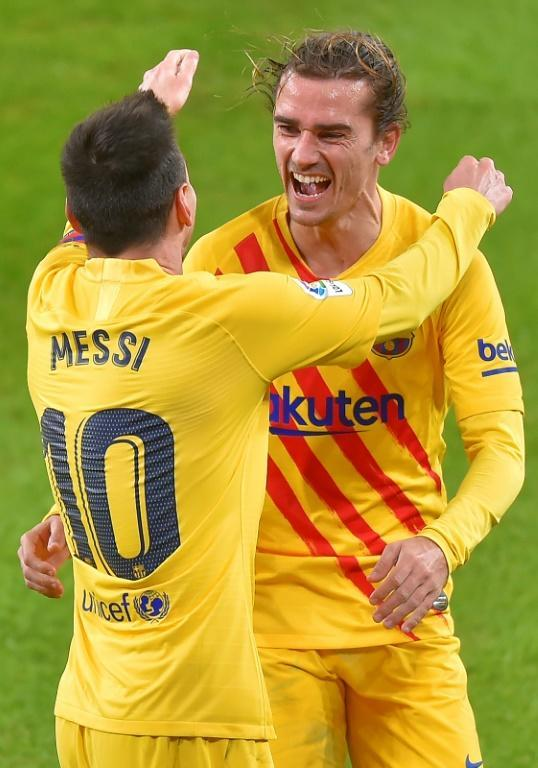 Lionel Messi and Antoine Griezmann looked in sync during Barca's win at Atheltic Bilbao