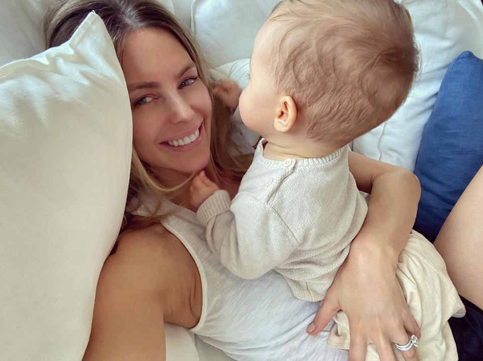Jen Hawkins has opened up about being mum to her baby girl Frankie Violet. Photo: Instagram/jenhawkins_.