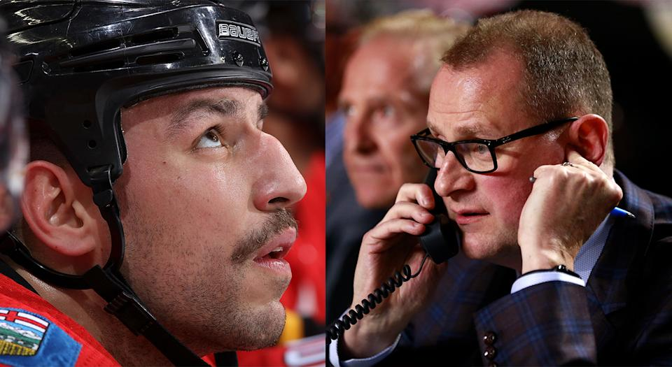 Despite the rough patch the Calgary Flames are going through, general manager Brad Treliving won't be making any immediate changes. (Getty Images)
