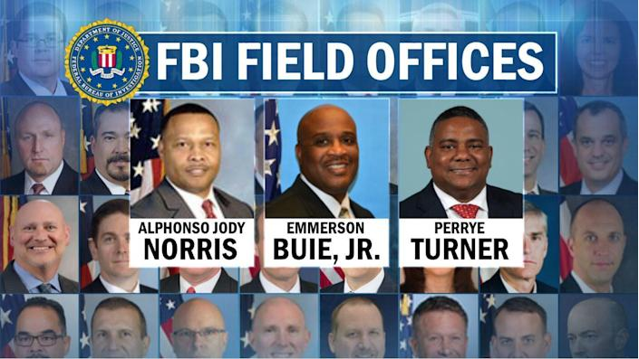 Of the agents running the FBI's 56 field offices across the country, only three are Black. / Credit: CBS News