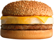 <p>Ringing in at 530 calories, this sandwich features egg, processed cheddar cheese and a sausage patty on a sesame seed bun. It contains more than half the daily recommended amount of saturated fat (you'll save about 20 calories and 2 grams of fat if you opt for an English muffin base, but consume 30 mg more sodium.) <br> — Calories: 530 <br> — Fat: 34 g (Saturated Fat 12 g) <br> — Sodium: 860 mg <br> — Carbohydrates: 35 g <br> — Sugar: 5 g <br> — Source/Photo: A&W </p>