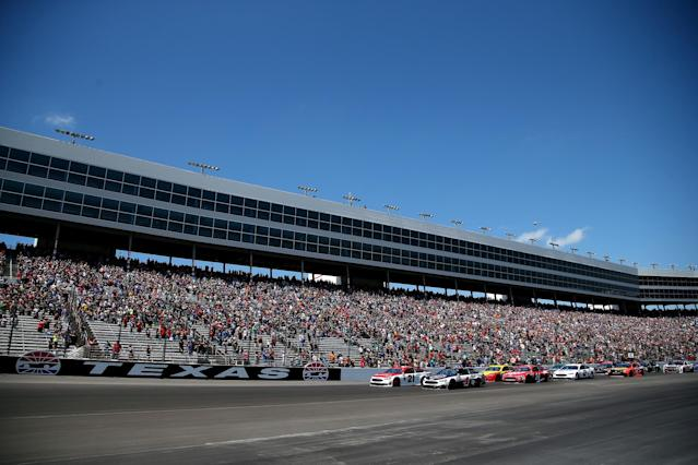 Is Texas Motor Speedway 1.44 miles long? 1.5? Based on your line, it could change from lap to lap. (Getty)
