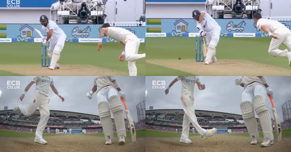 Watch: James Anderson Kicks The Pitch In Frustration After Rohit Sharma Drives Him Through Covers