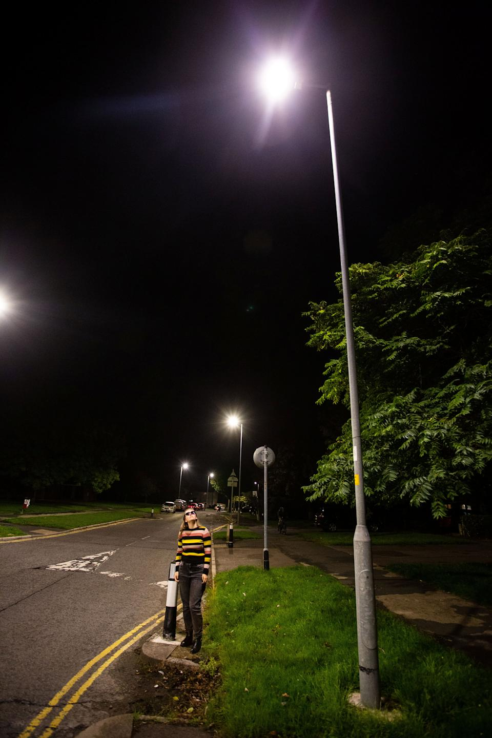 People living near the newly-installed lights have voiced their frustration. (SWNS)