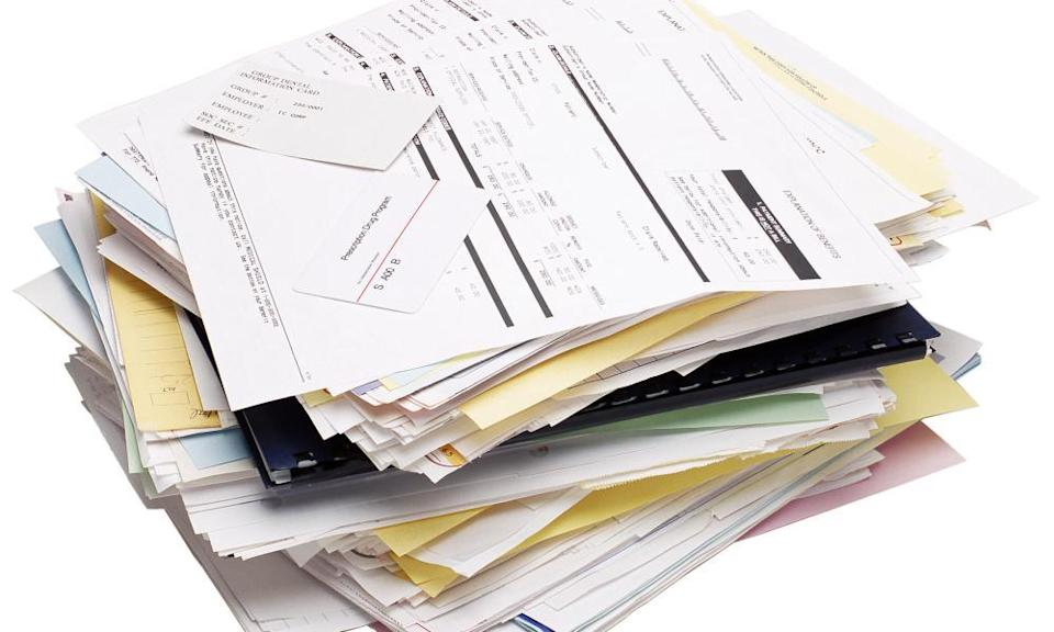 Stack of forms