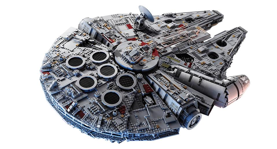 "Consider yourself a Lego pro? Tackle the ultimate challenge with this collector series <em>Star Wars</em> Millennium Falcon. Suitable for ages 16+. <a href=""https://fave.co/2nQmcSN"" rel=""nofollow noopener"" target=""_blank"" data-ylk=""slk:Shop here."" class=""link rapid-noclick-resp"">Shop here.</a>"