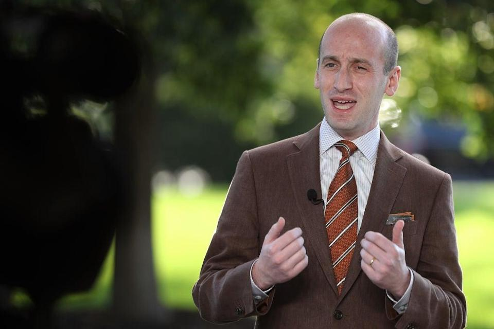 Stephen Miller, a top adviser to the president, tested positive for coronavirus on Tuesday, is married to Katie Miller, a top Pence aide in Utah ahead of Wednesday's debate. (Getty Images)