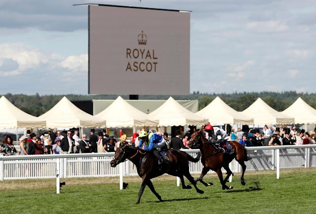 Horse Racing - Royal Ascot - Ascot Racecourse, Ascot, Britain - June 20, 2018 Poet's Word ridden by James Doyle wins the 4.20 Prince of Wales's Stakes Action Images via Reuters/Paul Childs