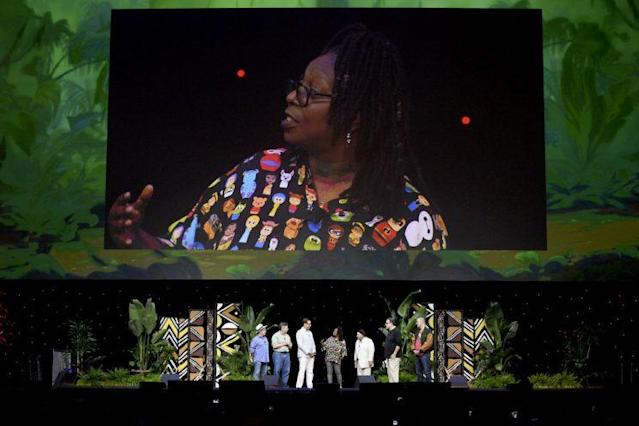 Whoopi Goldberg takes the stage at D23 Expo's <em>The Lion King</em> panel (Photo: Disney)